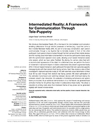 Intermediated Reality: A Framework for Communication through Tele-Puppetry